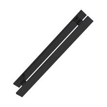 Puxador para Porta de Madeira e Vidro Barra Reta 75cm Alumínio Preto