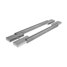 Puxador para Porta Duplo 1000mm Inox Escovado Vesfer