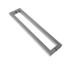Puxador para Porta Duplo 100cm Aço Inox Escovado Goal Geris