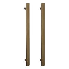 Puxador para Porta Duplo 300mm Aluminio Oxidado 3270A AT Brumet