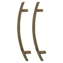 Puxador para Porta Duplo 300mm Aluminio Oxidado 3280A AT Brumet