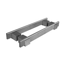 Puxador para Porta Duplo 400mm Alumínio Escovado Vesfer