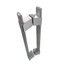 Puxador para Porta Duplo 400mm Inox Escovado Vesfer