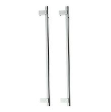 Puxador para Porta Duplo 600mm Aluminio Cromado Acetinado 3003A CA Brumet