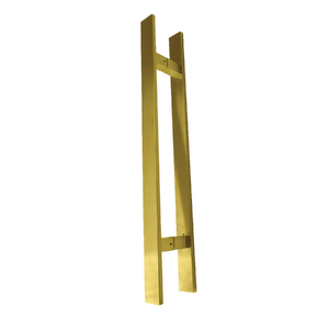 Puxador para Porta Duplo 60cm Inox Dourado Italyline