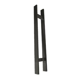 Puxador para Porta Duplo 60cm Inox Fume Italyline
