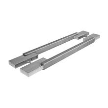 Puxador para Porta Duplo 800mm Inox Escovado Vesfer