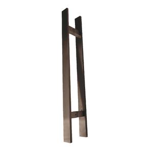 Puxador para Porta Duplo 80cm Inox Cobre Italyline