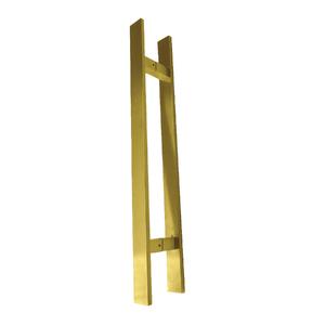 Puxador para Porta Duplo 80cm Inox Dourado Italyline
