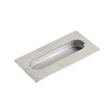 Puxador para Porta Embutir 102x51mm Inox Escovado Geris