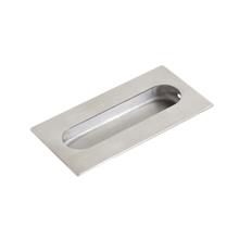 Puxador para Porta Embutir 102x51mm Inox Polido Geris
