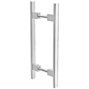 Puxador para Portas 12mm Alumínio Cromado Duplo PA367 Pauma