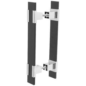 Puxador para Portas 12mm Alumínio Cromado Duplo PA369 Pauma