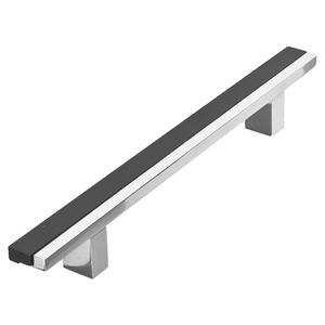 Puxador para Portas 12mm Alumínio Cromado Duplo PA659 Pauma
