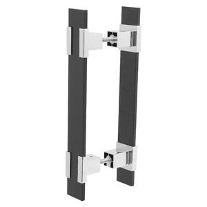 Puxador para Portas 30mm Alumínio Cromado Duplo PA342 Pauma