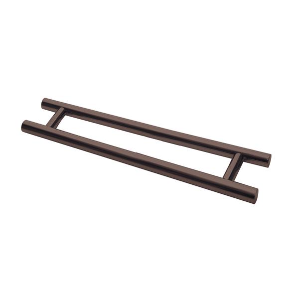6fc8c7b41bd Puxador para Porta de Madeira e Vidro Tubular Reto 80cm Aço Inox Cobre