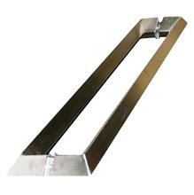 Puxador para portas Prisma Inox Escovado 434mm Geris