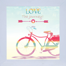 Quadro Bike Love 29x29cm