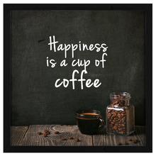 Quadro Café Happiness 43x43cm