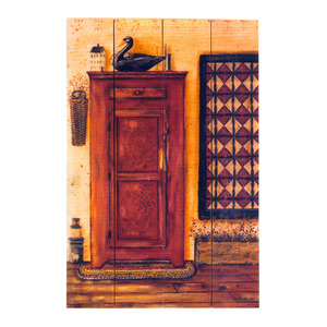 Quadro Casa Sem Vidro Marrom 30x20cm Importado