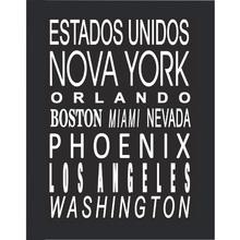 Quadro Cidades EUA 29x39cm