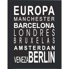 Quadro Cidades Europa 29x39cm