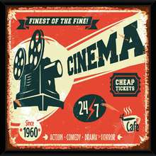 Quadro Cinema 49x49cm