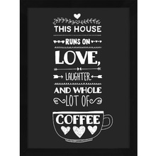 Quadro Coffee Lovers 39x29cm