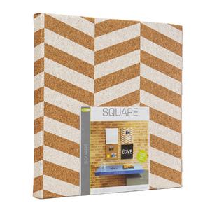 Quadro de Aviso Cortiça Square Geométrico 35x35cm