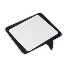 Quadro de Aviso para Escrever Anote Aí Preto e Branco 24x23cm