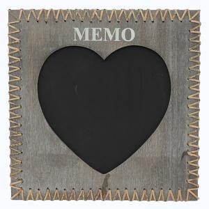 Quadro de Aviso para Escrever Coração Memo 40x40cm
