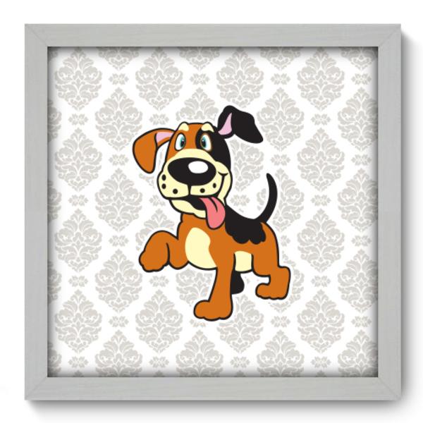 23c631c4b Quadro Decorativo - Cachorro - 33cm x 33cm - 084qdbb