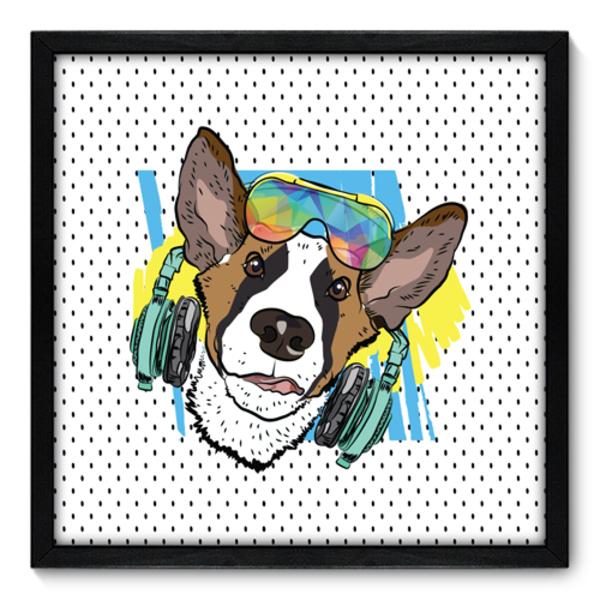 0432f592d Quadro Decorativo - Cachorro - 50cm x 50cm - 017qnscp