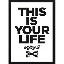 Quadro Enjoy Life 39x29cm
