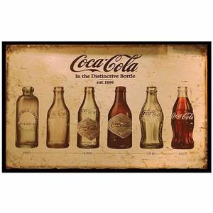 Quadro Evolução Coca Cola 29x19cm
