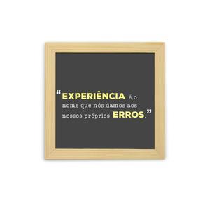 Quadro Experiencias E Erros 23x23cm