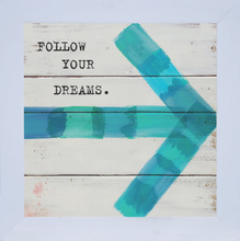 Quadro Follow Dreams 19x19cm