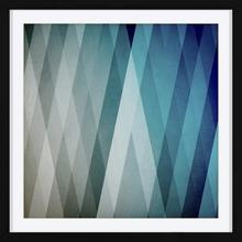 Quadro Geometric Blue 44x44cm