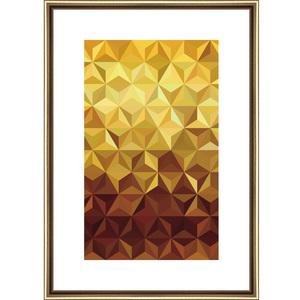 Quadro Gold 3D Dourado I 45x32