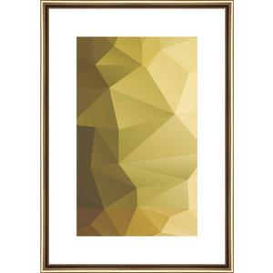 Quadro Gold 3D Dourado II 45x32
