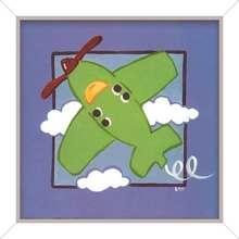 Quadro Green Plane 24x24cm
