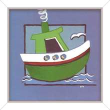 Quadro Green Ship 24x24cm