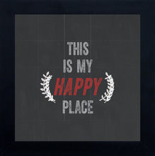 Quadro Happy Place 24x24cm