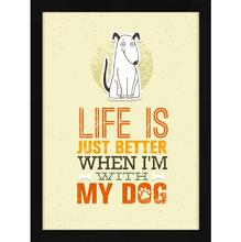 Quadro Life Teen Dog 32x45cm