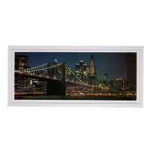 Quadro London Colorido com Moldura Branca 73x33cm