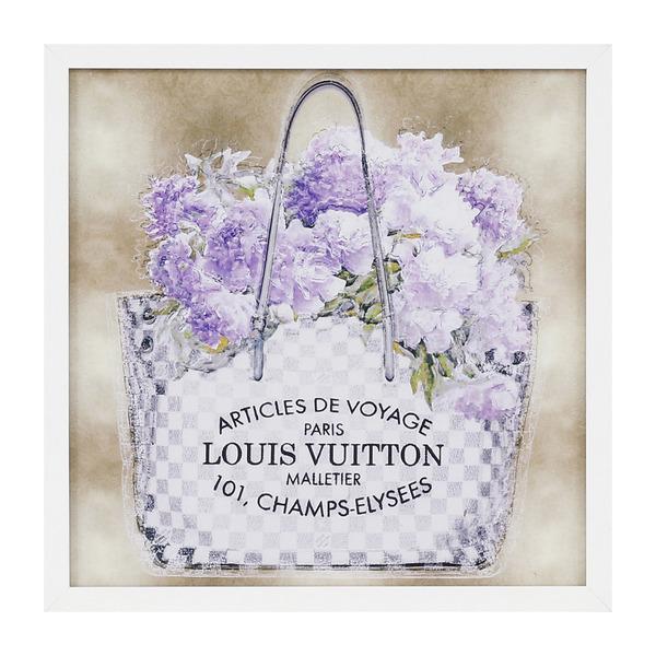 691d3b6b0 Quadro Louis Vuitton Floral Roxo 30x30cm Inspire   Leroy Merlin