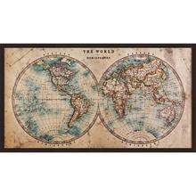 Quadro Mapa Mundi 50x90cm