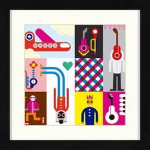 Quadro Music Youth 29x29cm
