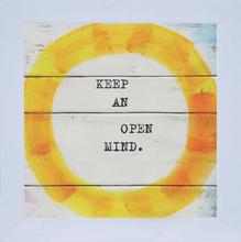 Quadro Open Mind 19x19cm