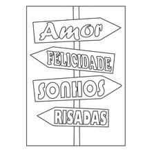 Quadro para Pintar Frase Amor, Felicidade, Sonhos, Risadas 30x42cm